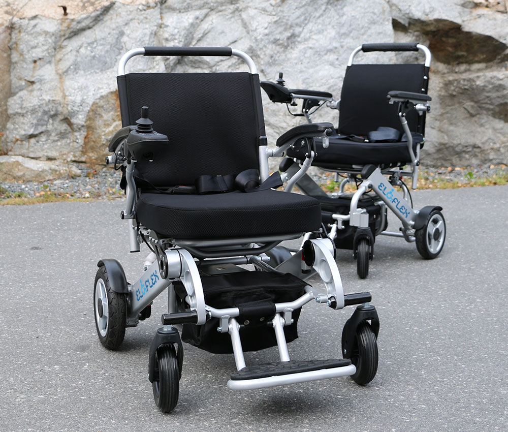 eloflex foldable power electric wheelchair portable compact